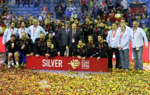 España, en el podio del Europeo.