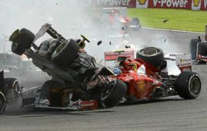 La escalofriante salida del Gran Premio de B�lgica de 2012 en la que...