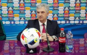 José Venancio López,en una comparecencia de prensa en Belgrado.