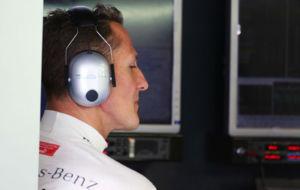 Schumacher (47 a�os), en un Gran Premio de 2012.