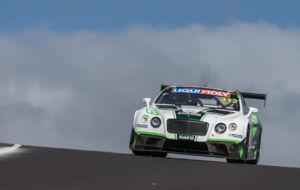 Andy Soucek, con el Continental GT3 que pilota en las Blancpain...