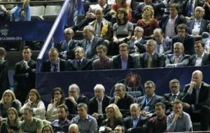 Florentino Pérez en el palco de autoridades en La Coruña