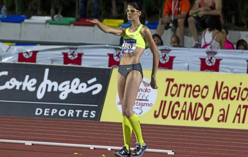 Beitia (36), en el Campeonato de España al aire libre de 2015 en...
