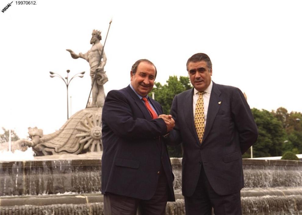 Jesús GIl y Lorenzo Sanz, amigos y rivales