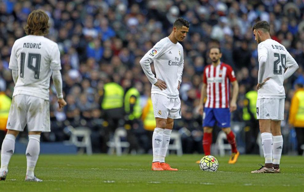 Cristiano, junto a Borja Mayoral tras el 0-1.