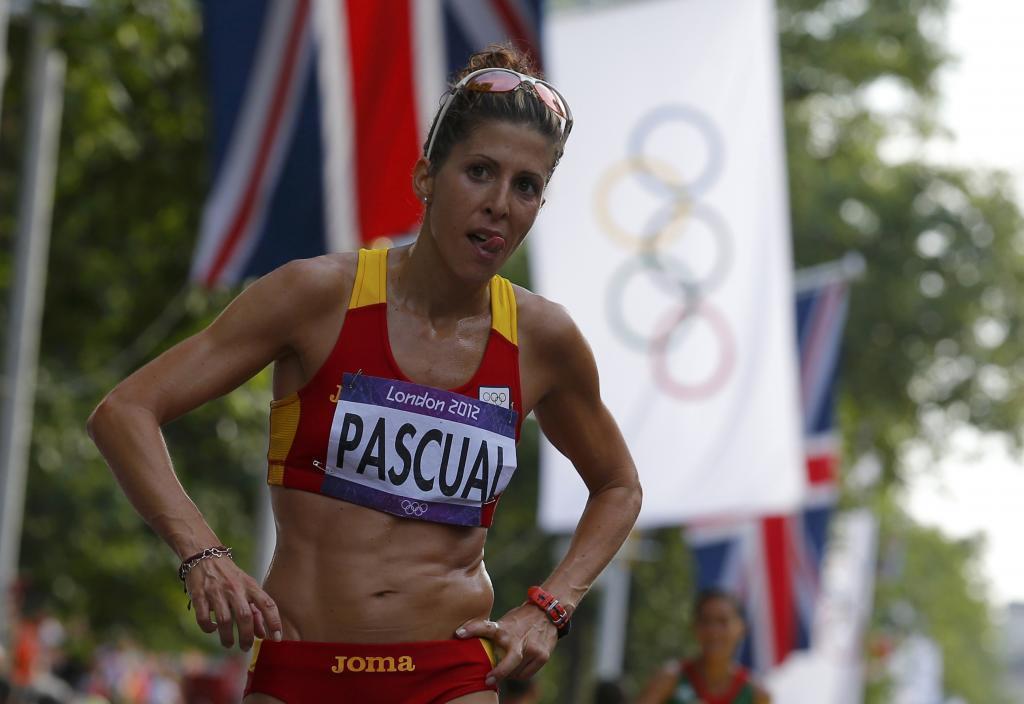Beatriz Pascual, durante la prueba de 20 kilómetros de los Juegos...