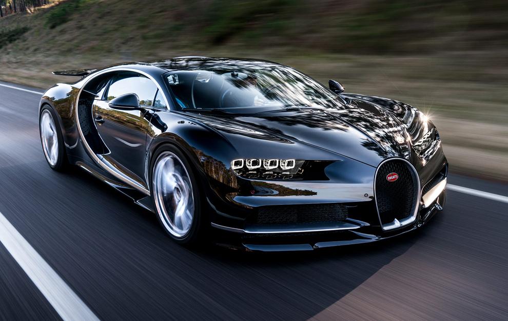 El nuevo diseño del Chiron es mucho más agresivo que el del Veyron.