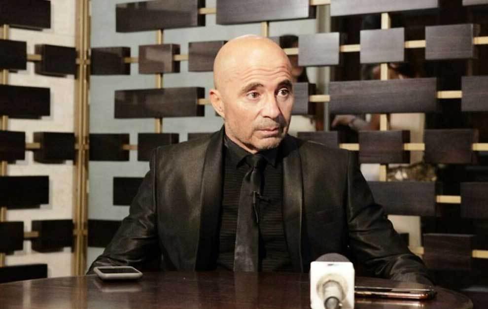 Sampaoli durante la entrevista