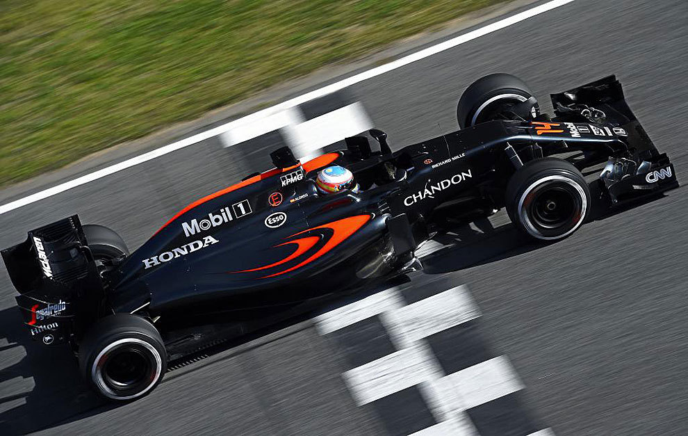 Alonso in the MP4-31.