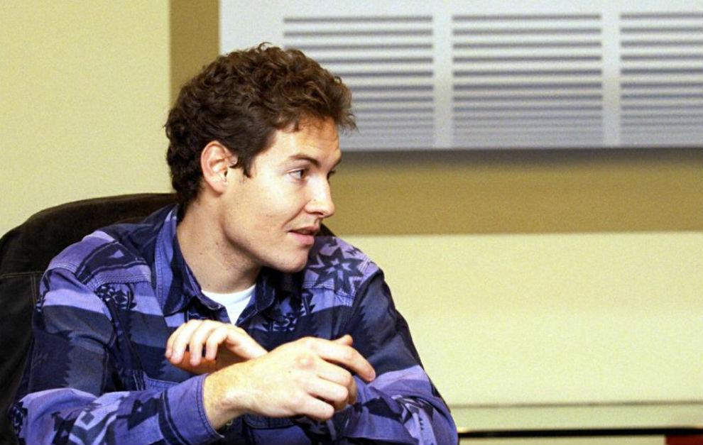 Truyol, durante una entrevista en la redacción de MARCA en 1998.