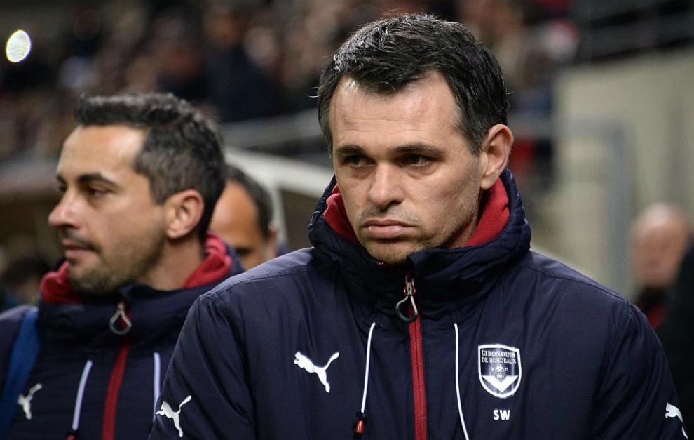 Willy Sagnol, entrenador del Girondins de Burdeos.