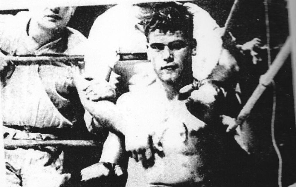 """José Martínez Valero, """"El Tigre de Alfara"""" durante un combate."""