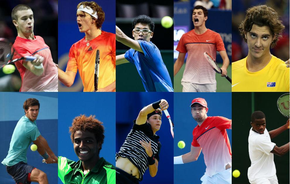 Mosaico de tenistas llamados a ser el futuro del tenis mundial.