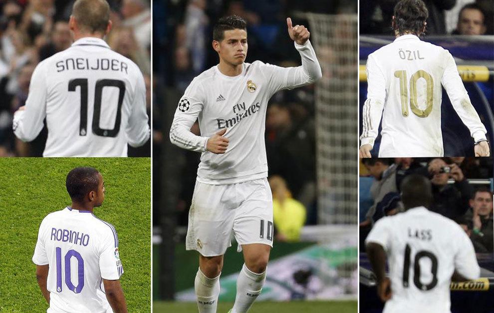 7c122ec0c5e Can James conquer curse of Real Madrid no. 10 shirt