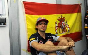 Carlos Sainz, en su cuarto en el circuito Albert Park de Melbourne,...