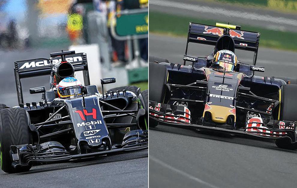 Alonso y Sainz pilotan sus monoplazas durante la primera jornada de...