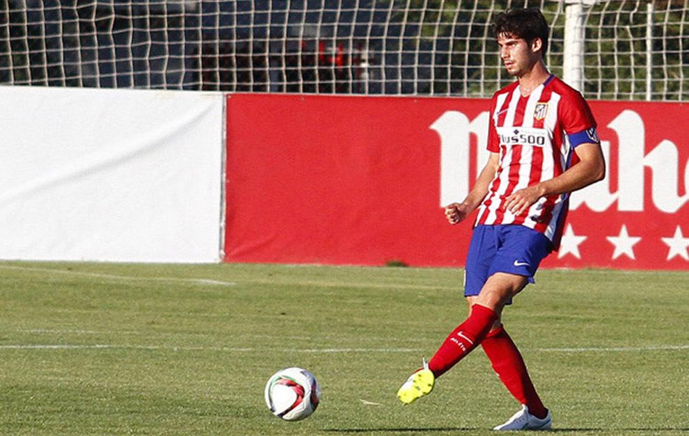 Nacho Monsalve, en un partido con el Atlético de Madrid en...