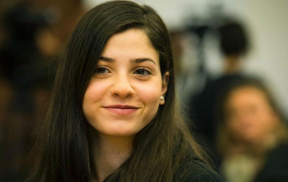 Yusra Mardini, durante la conferencia de prensa del viernes en...
