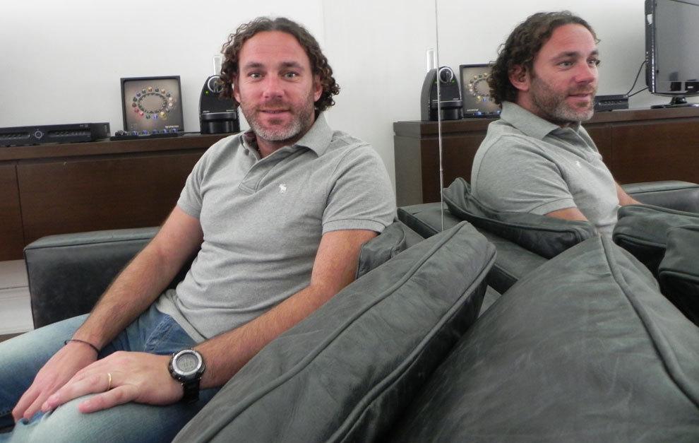 Gabi Milito, durante la entrevista.