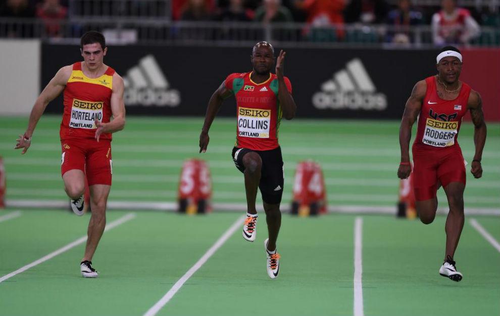 Bruno Hortelano corre junto a Collins y Rodgers en las semifinales del...