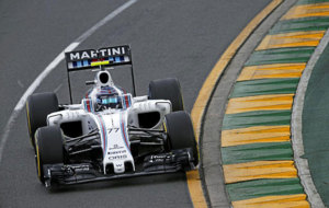 Valtteri Bottas pilota su Williams en Albert Park.