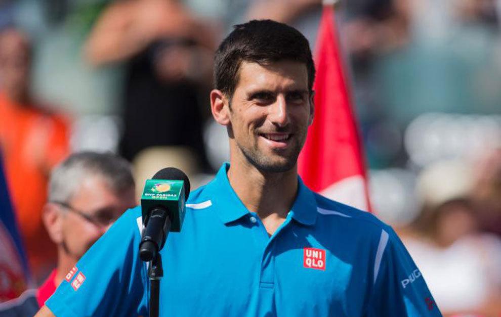 Novak Djokovic, tras ganar en Indian Wells.
