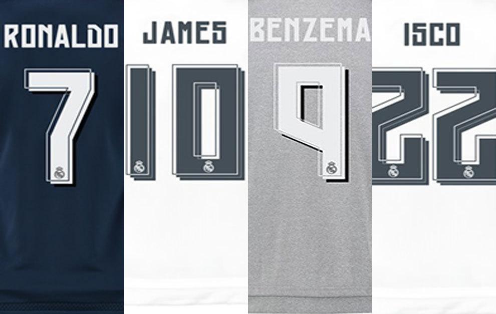 ¿Quiénes son los 6 jugadores del Madrid que más camisetas venden  a47d14befe6ff