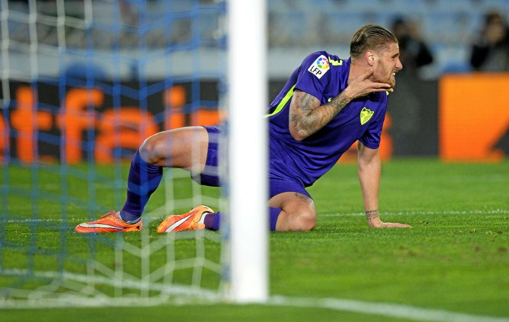 Raúl Albentosa durante un partido con el Málaga esta pasada...