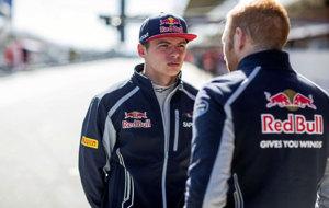 Verstappen, durante los tests de pretemporada en Montmeló.