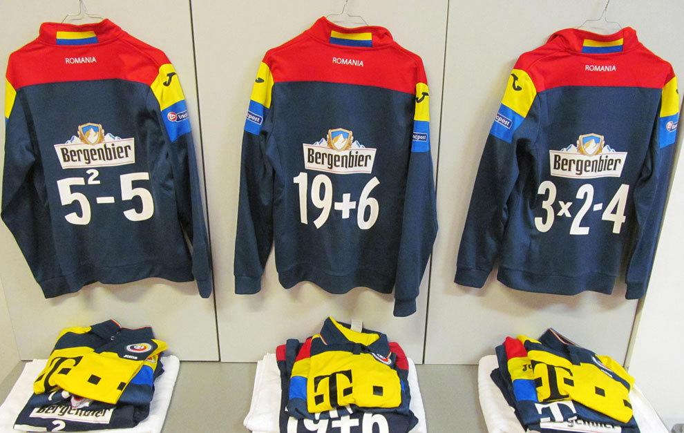 La ropa de entrenamiento de la selección rumana, con operaciones...