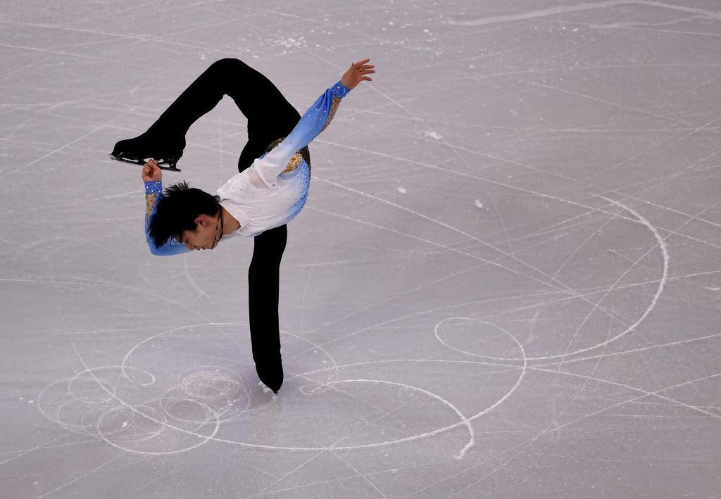 El japonés Yuzuru Hanyu en el programa corto del Mundial de Boston