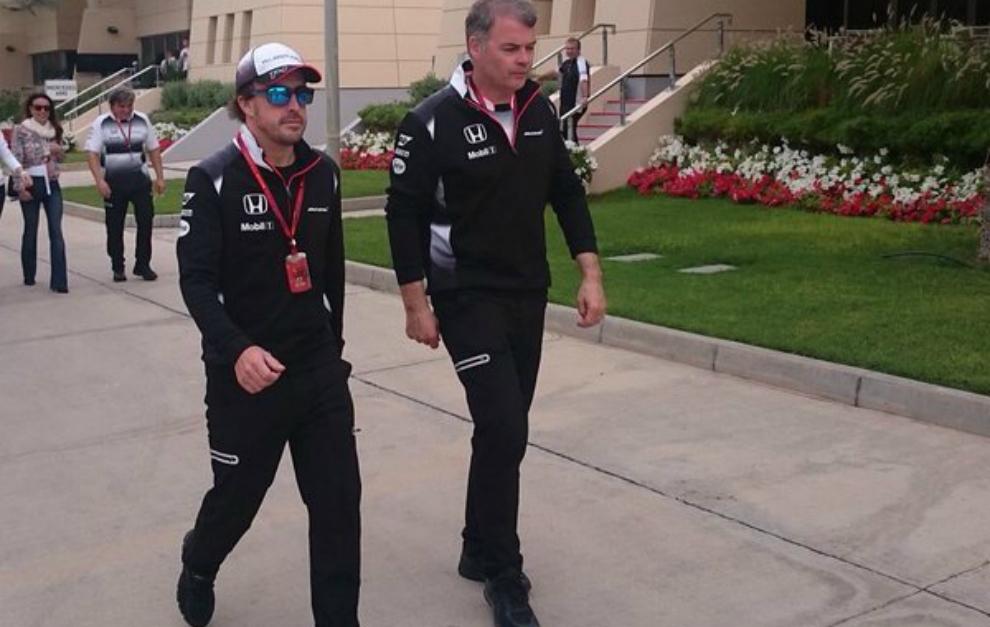 Fernando, de camino al centro médico.