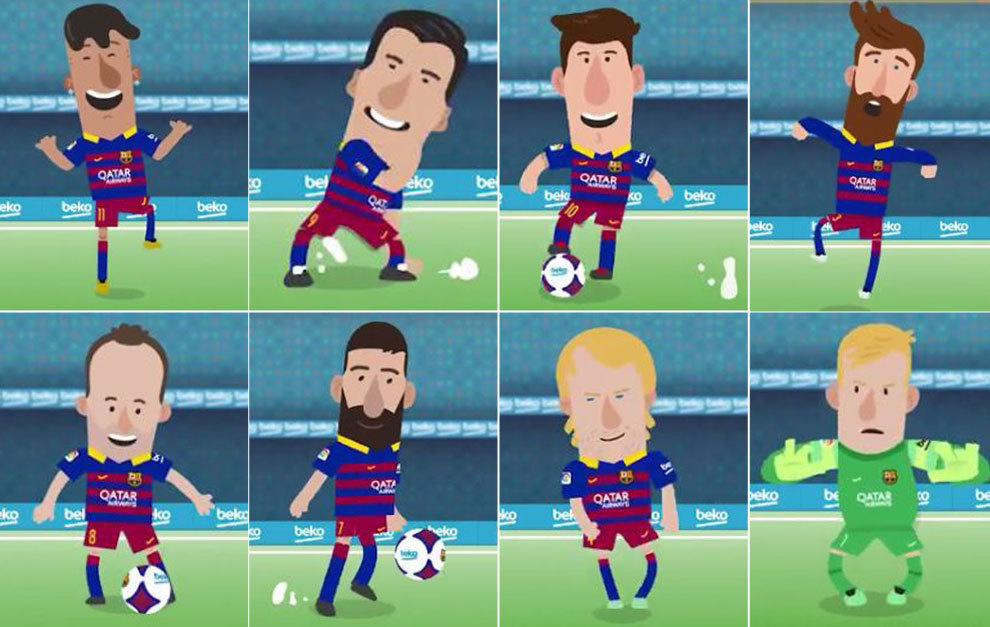 Fc Barcelona Un Barça De Dibujos Animados Para El Clásico Marcacom