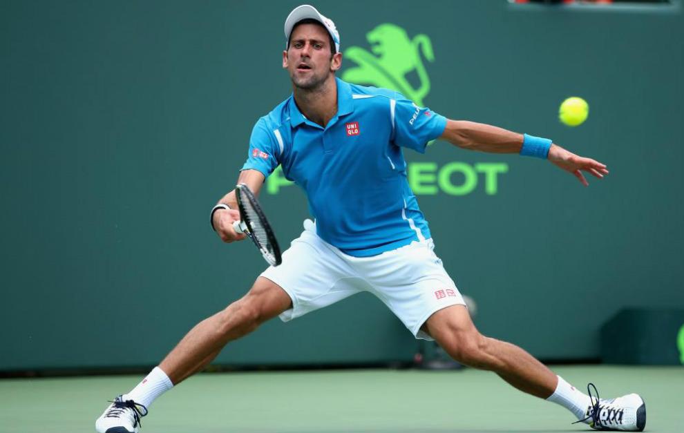 Djokovic, durante su partido ante Goffin