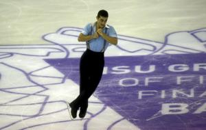 Javier Garc�a en la prueba final de patinaje art�stico sobre hielo...