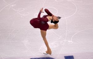 Medvedeva, en uno de sus ejercicios.
