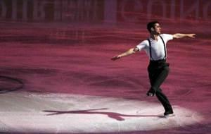 El patinador Javier Fern�ndez durante una Gala de exhibici�n tras...