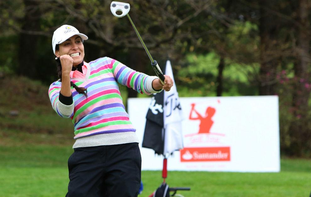 Victoria Lovelady celebra su victoria en el primer torneo del...