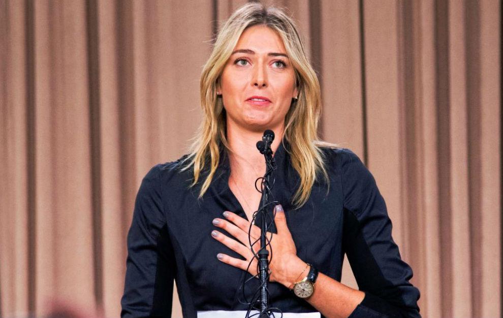 La tenista rusa Maria Sharapova, en la conferencia de prensa que...