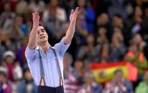 Javier Fern�ndez al acabar el programa completo del Mundial de Boston