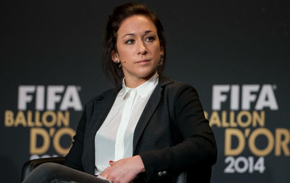 Nadine Kessler durante la gala del Balón de Oro en 2014.