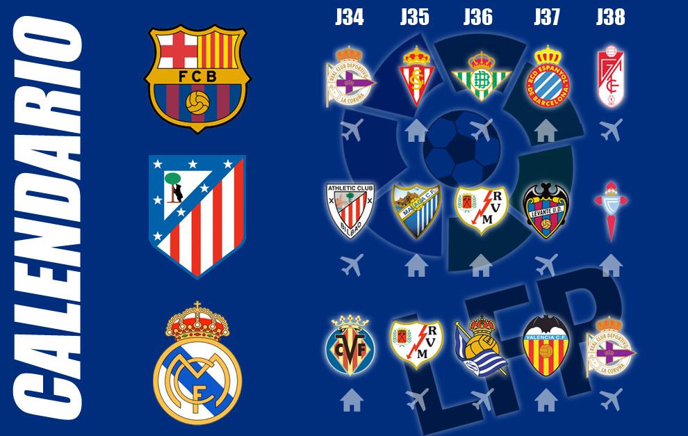 Calendario Del Barca.Liga Bbva Cual Es El Calendario De Barca Atletico Y Madrid