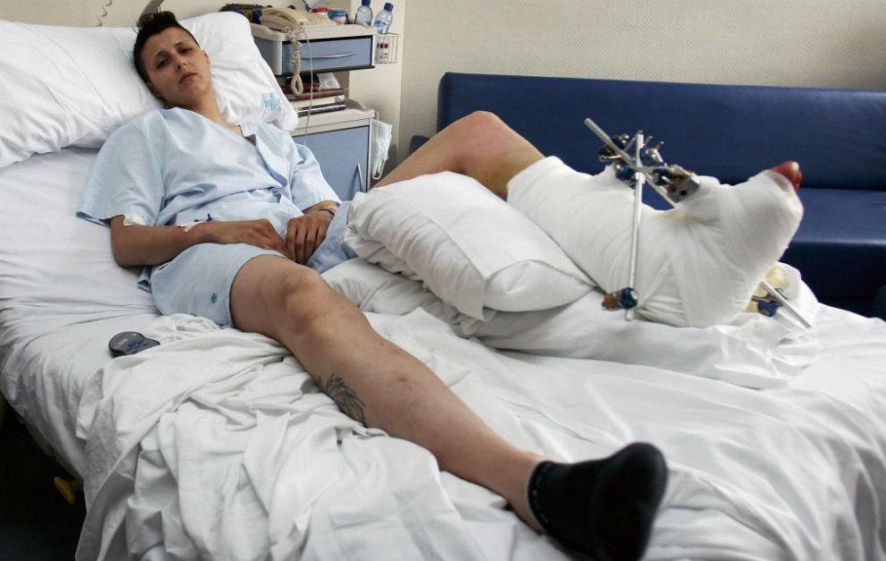 Sofía Bessayah, en una imagen de mayo de 2010, hospitalizada tras el...