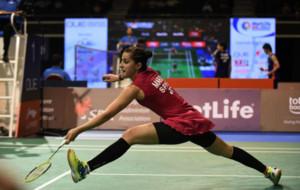 Carolina Mar�n, en el pasado Open de Singapur