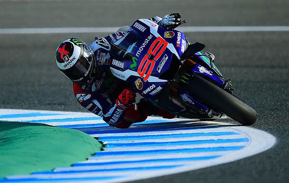 Jorge Lorenzo, durante los entrenamientos libres en Jerez