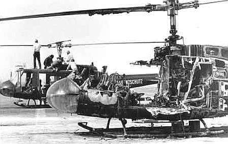 Estado en el que quedaron los helicópteros
