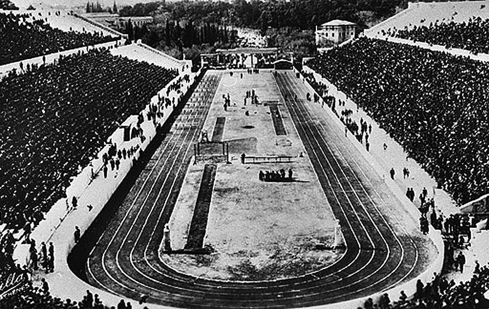 El estadio olímpico de Atenas 1896 acogió las pruebas de atletismo