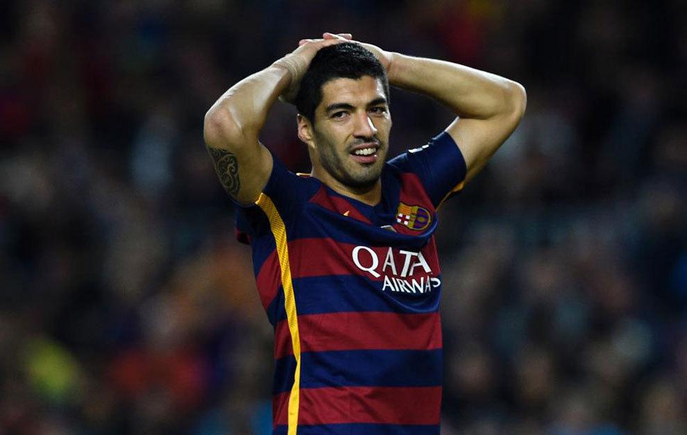 Suárez, durante el partido contra el Sporting.