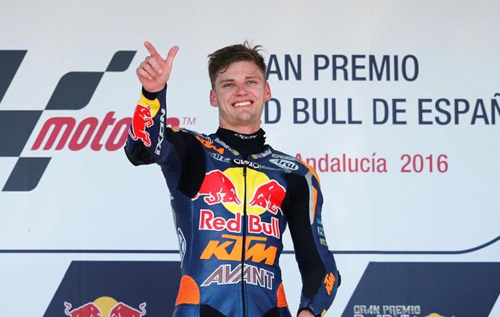 Binder en el podio en Jerez.
