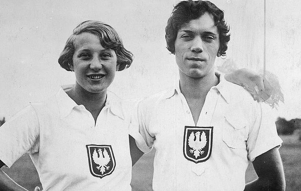 Stanislawa Walasiewicz, a la derecha de la imagen.